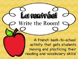 La rentrée/Back to school Ontario Core French/French Immer