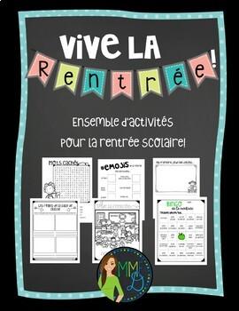 La rentrée - Ensemble d'activités - French back to school activities