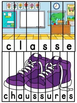 La rentrée scolaire - French Back to School - Puzzles 2