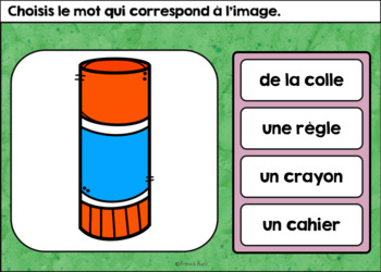La rentrée scolaire - Vocabulaire #1 - French Back to School - BOOM cards