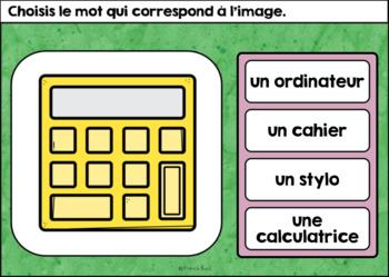 La rentrée scolaire - Vocabulaire Ensemble - French Back to School - BOOM cards