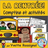 La rentrée scolaire | French Back to School reading and writing activities
