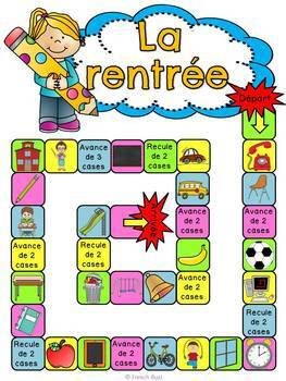 La rentrée scolaire - jeu de société - French Back to school board game