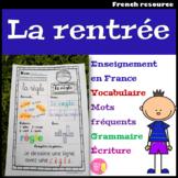 La rentrée scolaire - Exercices de vocabulaire, grammaire, lecture, écriture