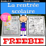 La rentrée scolaire - Vocabulaire, Grammaire (French, Back