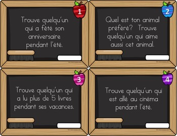 La rentrée scolaire - cartes à tâches (BTS Task Cards in French)