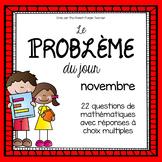 La résolution de problèmes en mathématique : Novembre