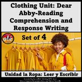 La Ropa Spanish Clothing Reading Comprenhesion & Writing.