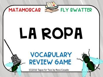 La ropa Flyswatter game Spanish clothing