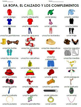 La ropa - Worksheet + Games - Resource Bundle 30% Discount