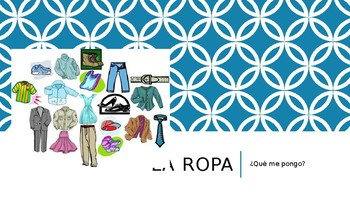 La ropa-Spanish Clothing Vocabulary With Weather