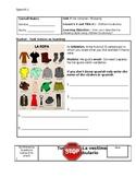 La ropa Spanish Worksheet