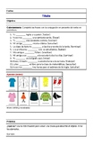 La ropa Spanish Vocabulary