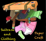 La ropa - Suitcase paper craft