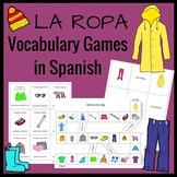 La ropa Vocabulary Game Pack
