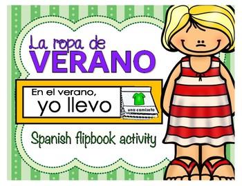 La ropa de verano - Spanish flipbook activity