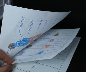 La ropa / el cuerpo Vocabulary Booklet for Spanish Interactive Notebooks