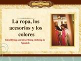 La ropa, los acesorios y los colores PowerPoint