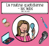 La routine quotidienne - les adolescents  -Word Wall