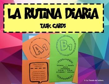 La rutina diaria - Conversation cards Reflexive verbs