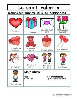 La saint valentin - Thematic File Folder Word Wall