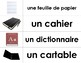 La salle de classe - French classroom/school supplies vocabulary for Word Wall