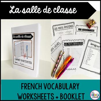 La salle de classe French classroom vocabulary activities