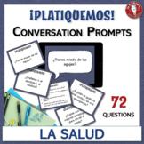 La salud / El bienestar - Spanish Speaking Task Cards: Con