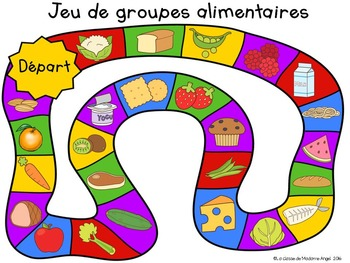 La santé:  The Four Food Groups Freebie in French