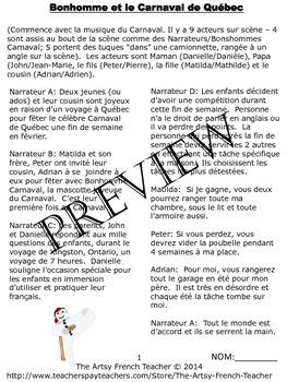 La saynète sur le Carnaval de Québec - French skit of Bonhomme & Quebec Carnival