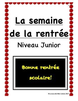 La semaine de la rentrée/ First week of school