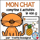 """""""La semaine de mon chat"""" (Comptine et activités de littératie avec le son """"a"""")"""