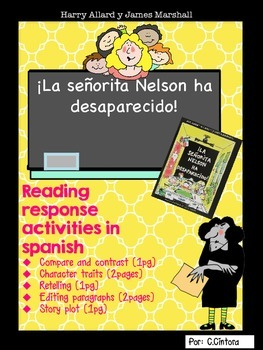 La señorita Nelson ha desaparecido SPANISH READING RESPONSE