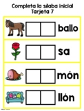 La silaba inicial-Initial Syllable Game