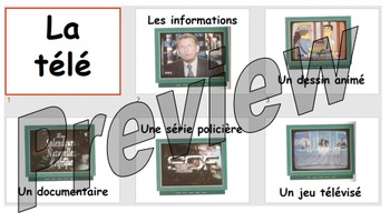 La télé - learning about the different types of TV programme