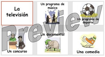 La televisión - learning the names for different types of TV programmes