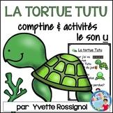 Comptine et activités pour le son U en français  I  French phonics activities