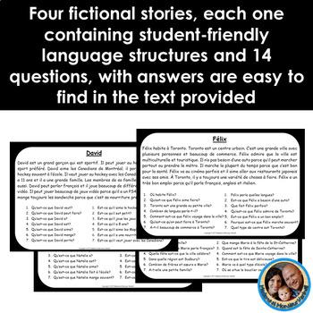 La tour française - A French Reading Comprehension Game - BUNDLE of 4 Stories!