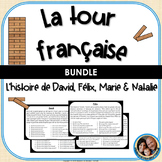 La tour française - A French Reading Comprehension Game - BUNDLE of 4 Stories!