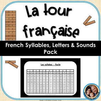 La tour française French Syllables, Letters & Sounds Pack