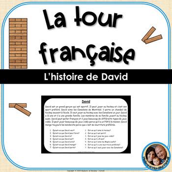 La tour française - French Reading Comprehension Game - David (easy version)