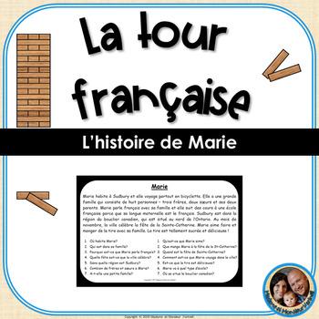 La tour française - French Reading Comprehension Game - Marie