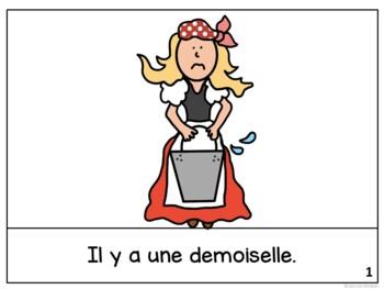 La vachère et son seau ~ French Milkmaid & her Pail Fable Reader ~ Simplified