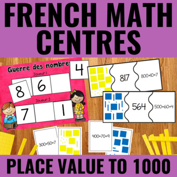 La valeur de position jusqu'à 1000 - Place Value to 1000 Centers French