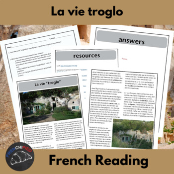 La vie Troglo - a short reading with text-dependent questions