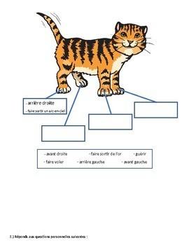 La vie secrète de Kloé le chat - French CI - TPRS - adjectives - directions