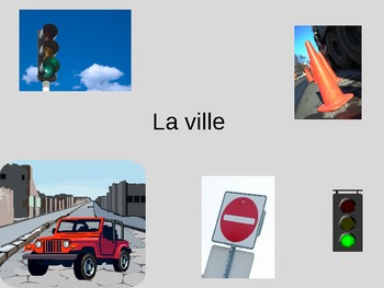 La ville PowerPoint French City and Transportation Vocabulary PPT