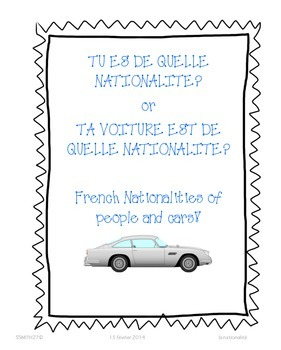 La voiture est de quelle nationalité? - French Nationalities