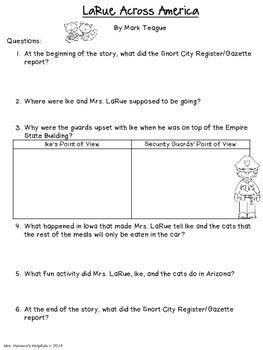 LaRue Across America Mini-Book Study and Activities