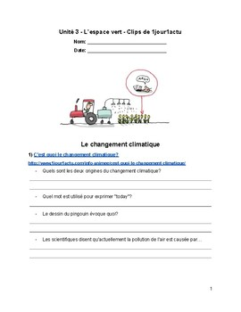 French Listening Comprehension - The environment - L'environnement